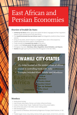 East African and Persian Economies