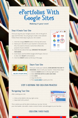 ePortfolios With Google Sites