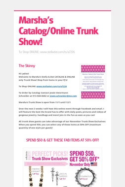 Marsha's Catalog/Online Trunk Show!