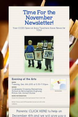 Time For the November Newsletter!