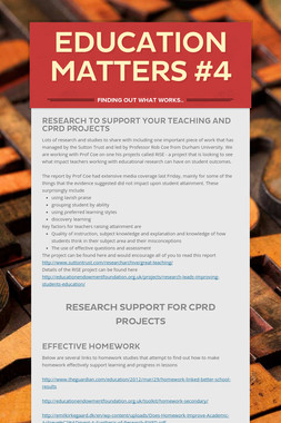 Education Matters #4