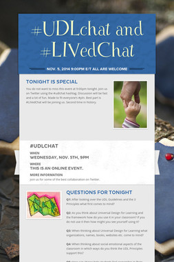 #UDLchat and #LIVedChat