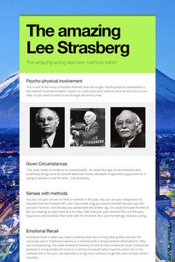 The amazing Lee Strasberg