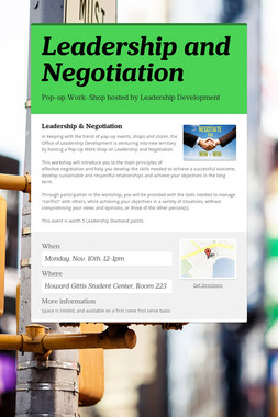 Leadership and Negotiation