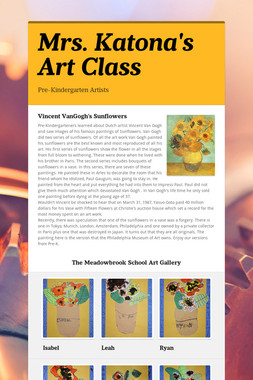 Mrs. Katona's Art Class
