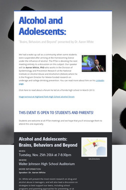 Alcohol and Adolescents:
