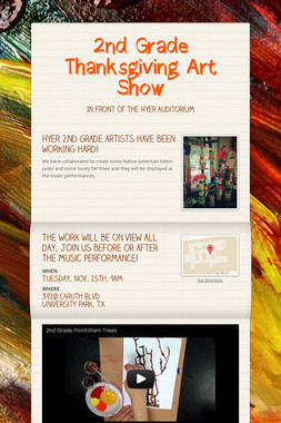 2nd Grade Thanksgiving Art Show