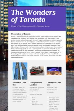 The Wonders of Toronto