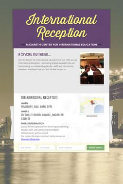 International Reception