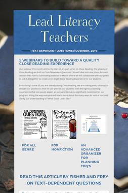 Lead Literacy Teachers