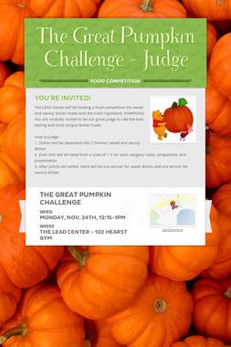 The Great Pumpkin Challenge - Judge