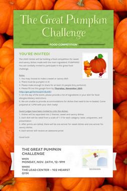 The Great Pumpkin Challenge
