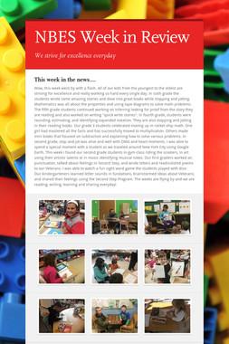 NBES Week in Review