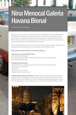 Nina Menocal Galeria Havana Bienal