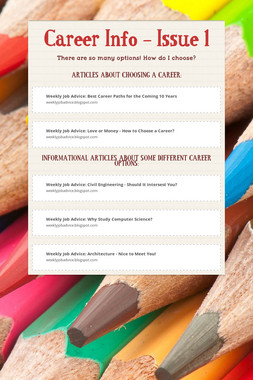 Career Info - Issue 1