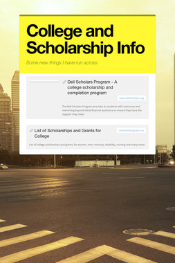College and Scholarship Info