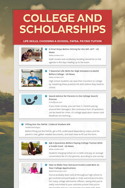 College and Scholarships