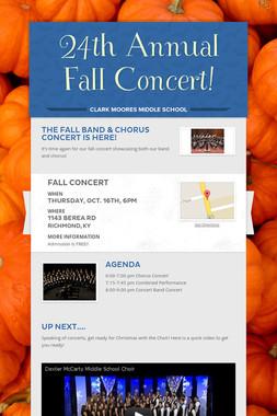 24th Annual Fall Concert!