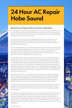 24 Hour AC Repair Hobe Sound