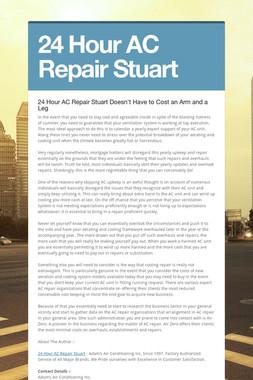 24 Hour AC Repair Stuart