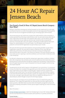 24 Hour AC Repair Jensen Beach