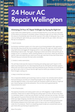 24 Hour AC Repair Wellington
