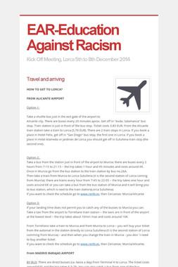 EAR-Education Against Racism