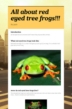 All about red eyed tree frogs!!!