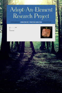 Adopt-An-Element Research Project