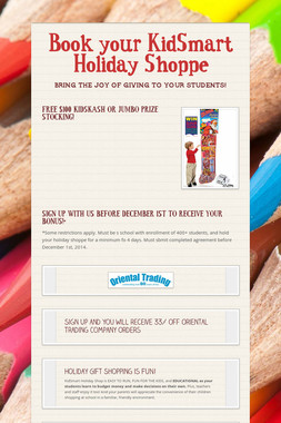 Book your KidSmart Holiday Shoppe