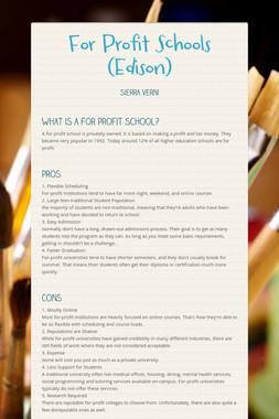 For Profit Schools (Edison)