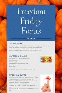 Freedom Friday Focus