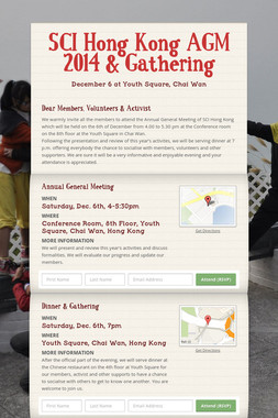 SCI Hong Kong  AGM 2014 & Gathering