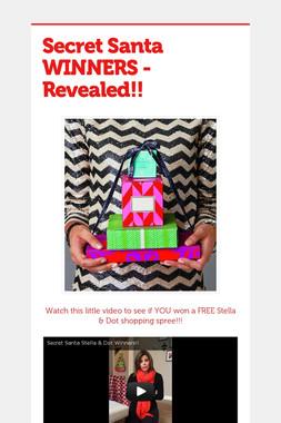 Secret Santa WINNERS - Revealed!!