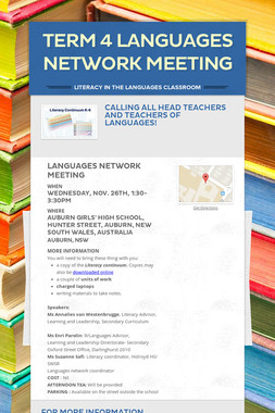 TERM 4 LANGUAGES NETWORK MEETING