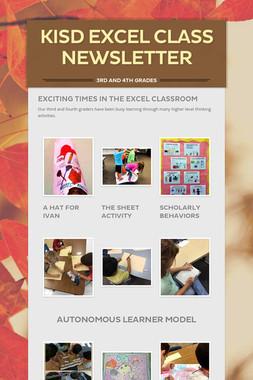 KISD EXCEL Class Newsletter