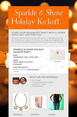 Sparkle & Shine Holiday Kickoff…