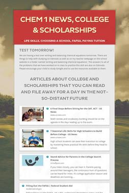 Chem 1 News, College & Scholarships