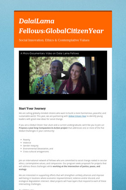 DalaiLama Fellows:GlobalCitizenYear