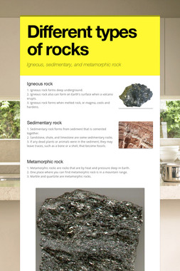 Different types of rocks
