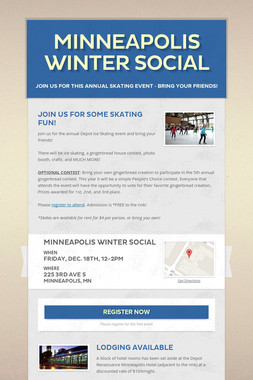 Minneapolis Winter Social