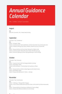 Annual Guidance Calendar