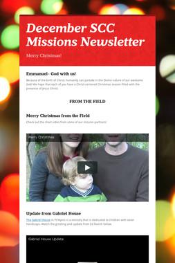 December SCC Missions Newsletter