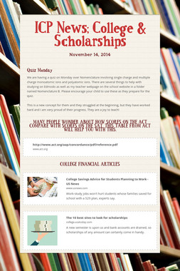 ICP News; College & Scholarships