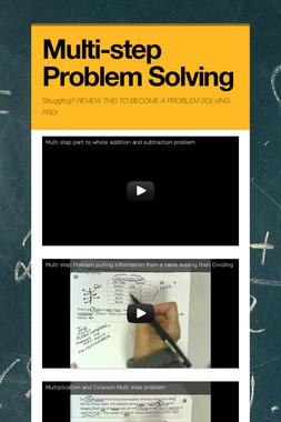 Multi-step Problem Solving