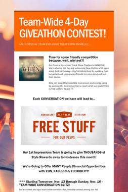 Team-Wide 4-Day GIVEATHON CONTEST!