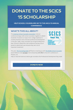Donate to the SC|CS 15 Scholarship