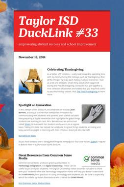 Taylor ISD DuckLink #33