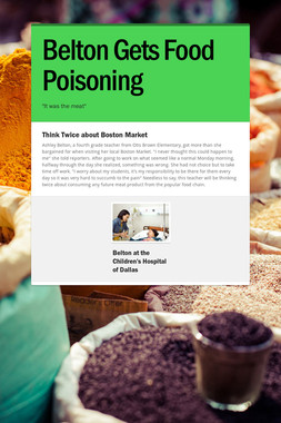 Belton Gets Food Poisoning
