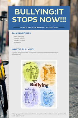 Bullying:It Stops Now!!!